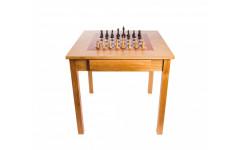 Шахматный стол Турнирный, дуб, с фигурами Стаунтон