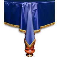 Покрывало Элегант 8фт влагостойкое синее/жёлтая бахрома