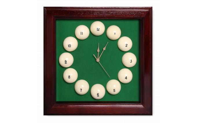 Часы Fortuna Бильярд SR4665 махагон 44x44см